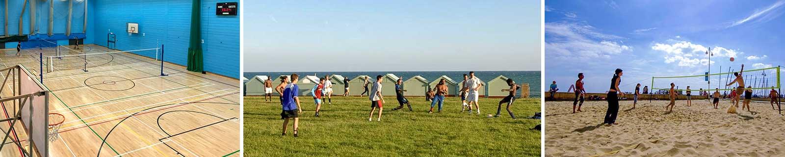 Sportaktivitäten im Sprachcamp Brighton