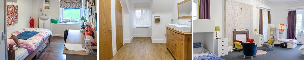 Thornton-College Einzelzimmer | Toiletten | Mehrbettzimmer