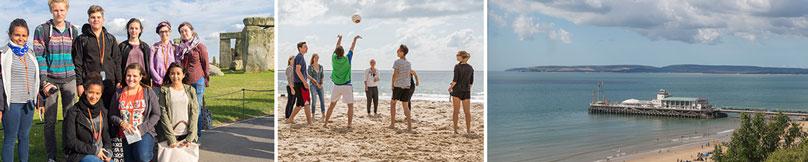 Sprachschüler, Volleyball, Bournemouth Pier